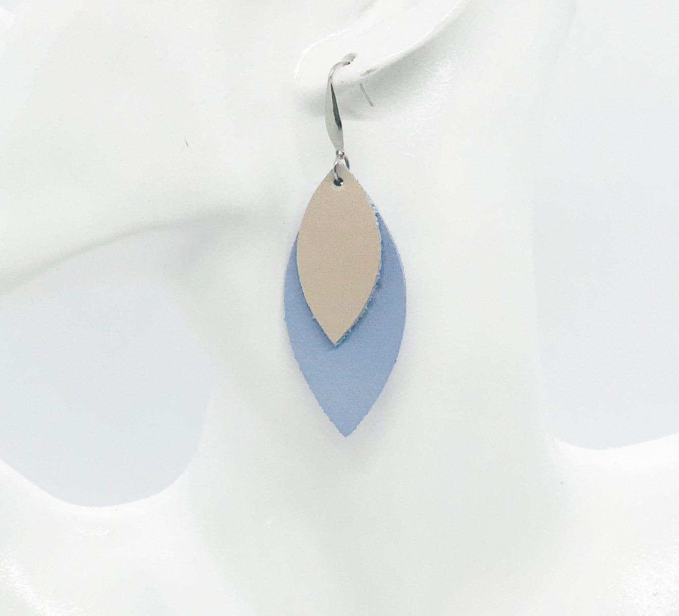 Baby Blue Genuine Leather Earrings - E19-214