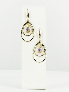 Teardrop Pendant Earrings - E19-2644