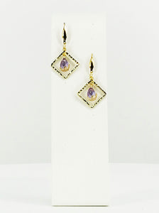 Square Pendant Earrings - E19-2645