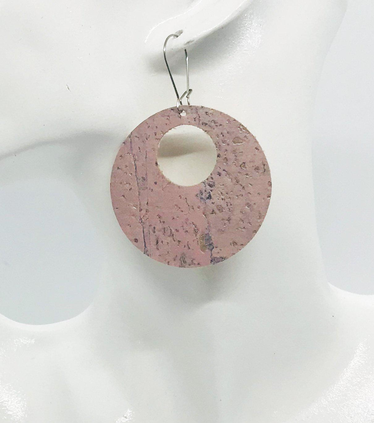 Pink Portuguese Cork Earrings - E19-276