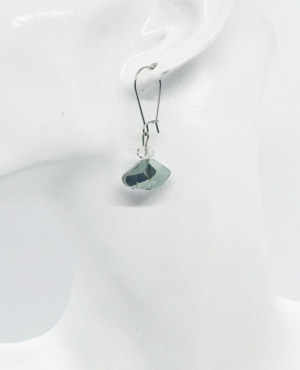 Glass Bead Drop Earrings - 19-289
