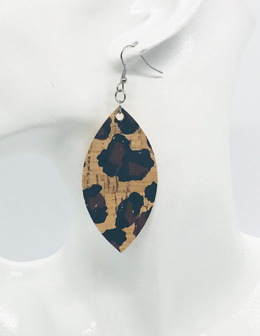 Leopard Cork Earrings - E19-350