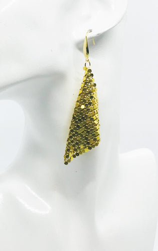 Gold Chainmail Earrings - E19-430
