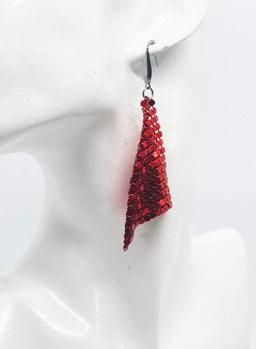Red Sequin Earrings - E19-440