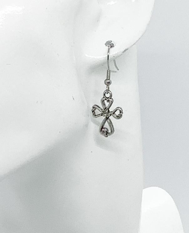 Kid's Cross Dangle Earrings - E19-611