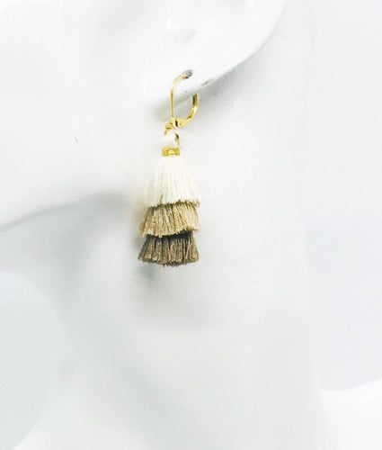 Tri-Colored Tassel Earrings - E19-650