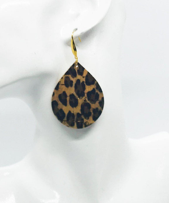 Baby Cheetah Cork Leather Earrings - E19-687