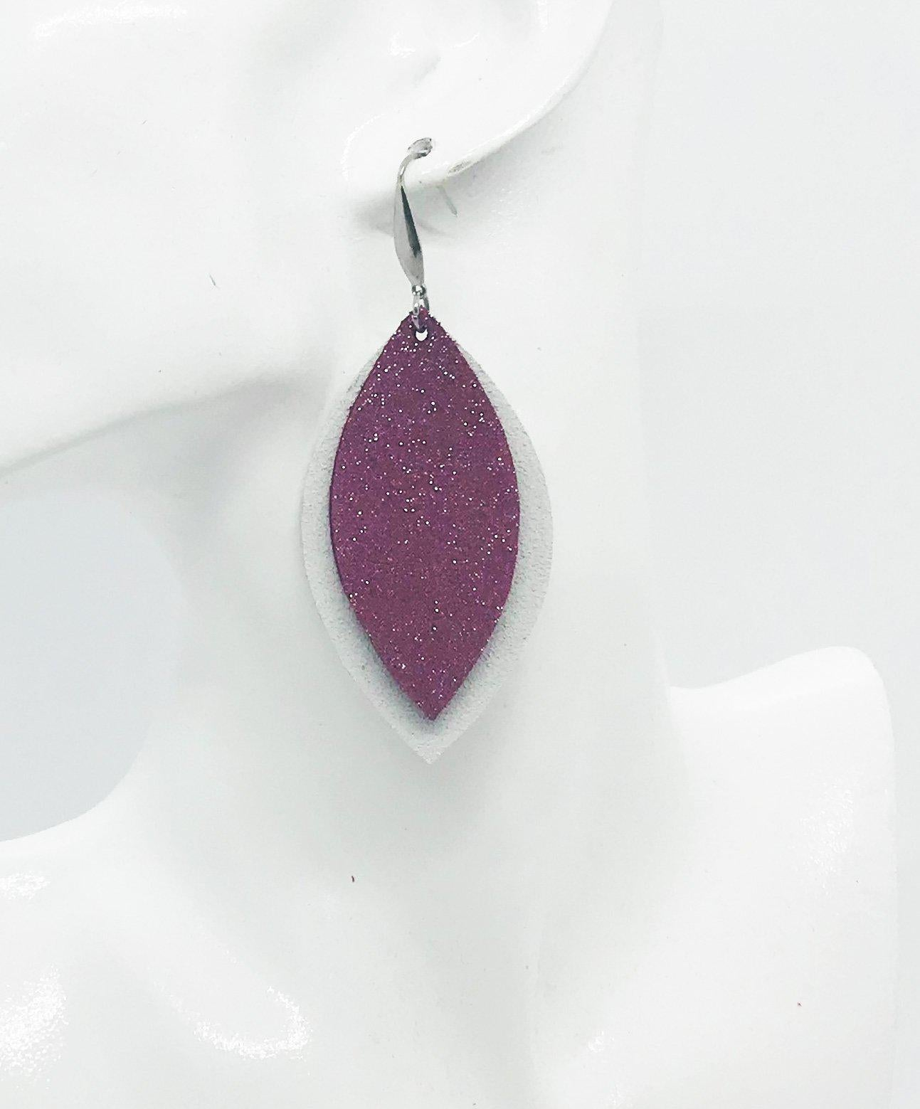 Genuine Suede and Leather Layered Earrings - E19-786