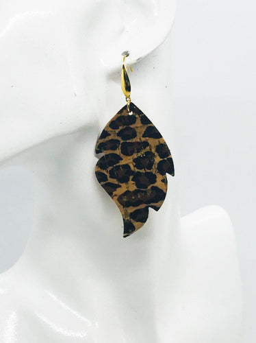 Baby Cheetah Genuine Cork Leather Earrings - E19-907