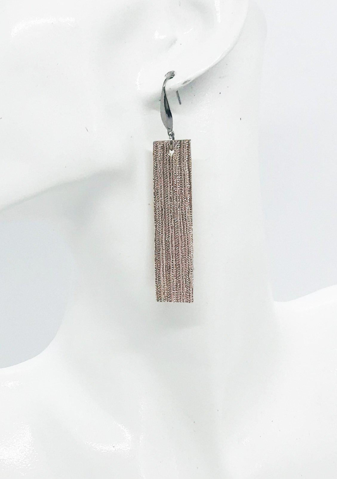 Pink Genuine Leather Earrings - E19-910