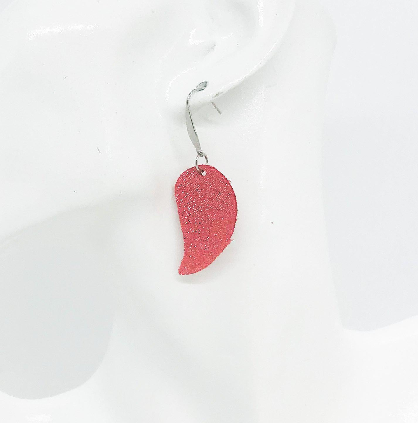 Coral Leather Earrings - E19-936