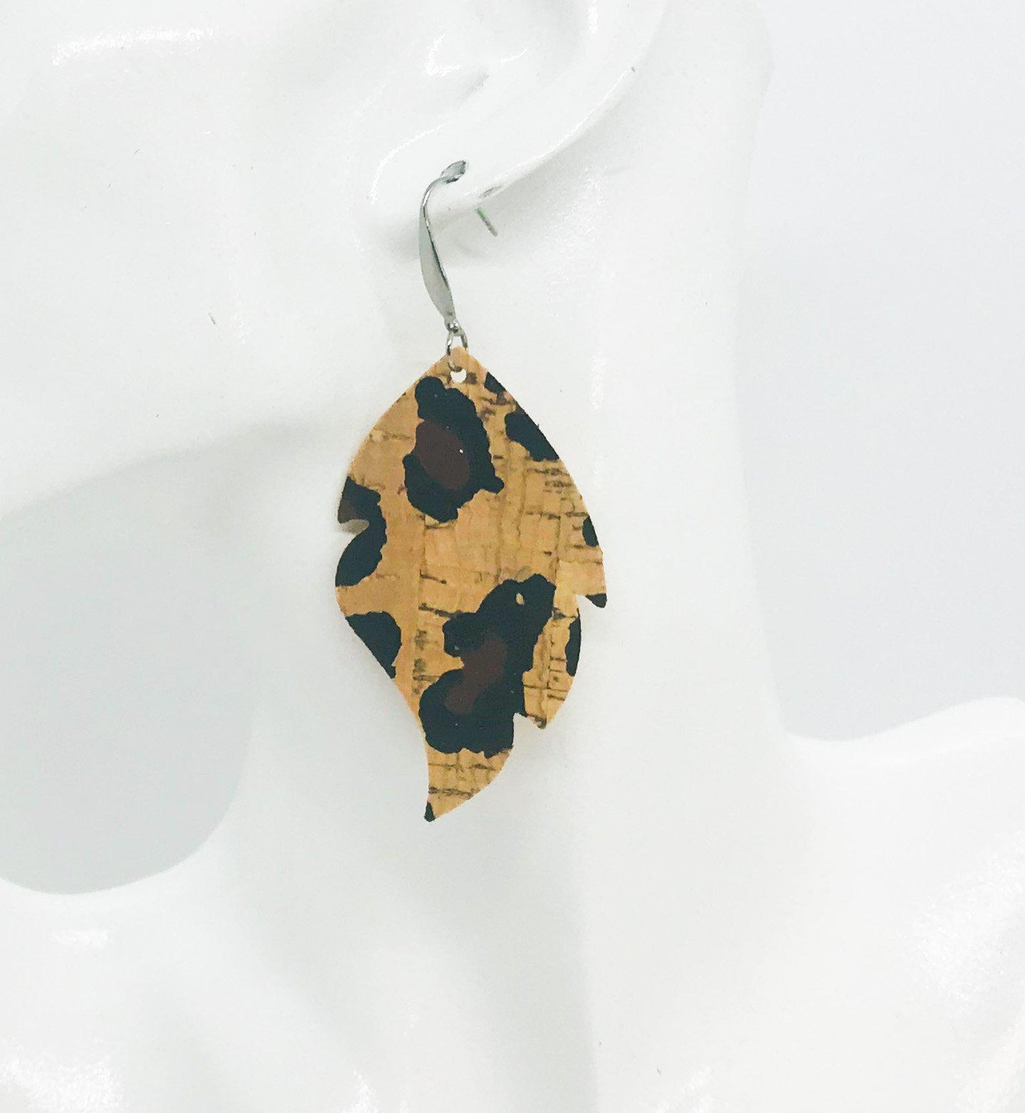 Chocolate Leopard Cork Earrings - E19-939