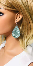 Load image into Gallery viewer, Teal Chunky Glitter Earrings - E270