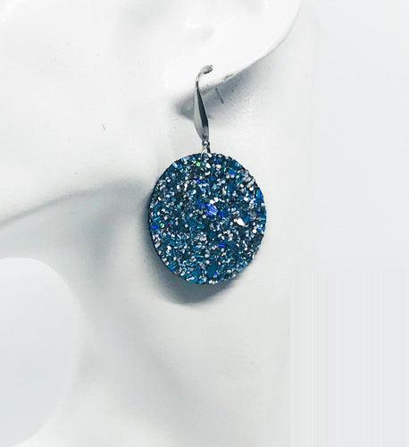 Medium Size Chunky Glitter Earrings - E457