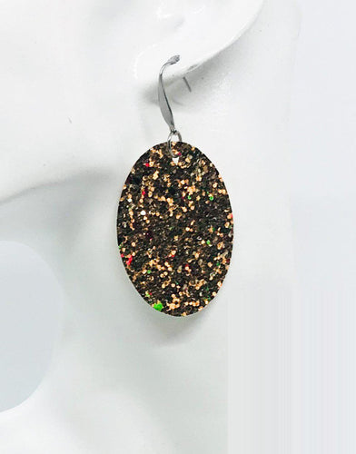 Large Chunky Glitter Earrings - E463