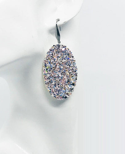 Large Chunky Glitter Earrings - E470