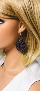 Large Chunky Glitter Earrings - E473