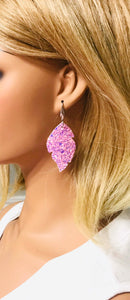 Medium Size Chunky Glitter Earrings - E474