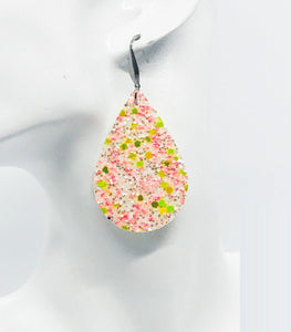 Large Chunky Glitter Earrings - E502