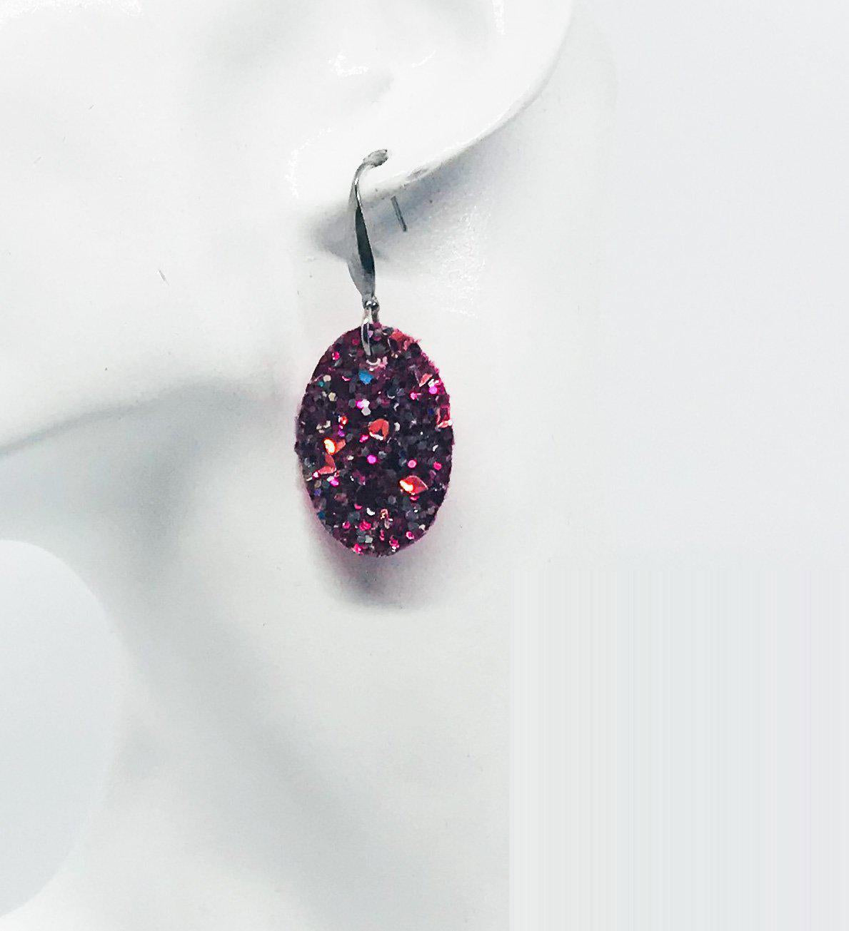Small Chunky Glitter Earrings - E548