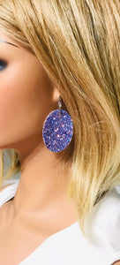 Large Chunky Glitter Earrings - E556