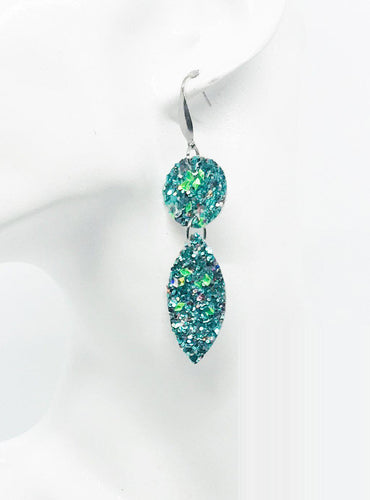 Large Chunky Glitter Earrings - E557