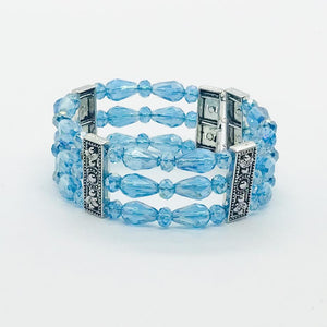 Glass Bead Cuff Bracelet - MB300