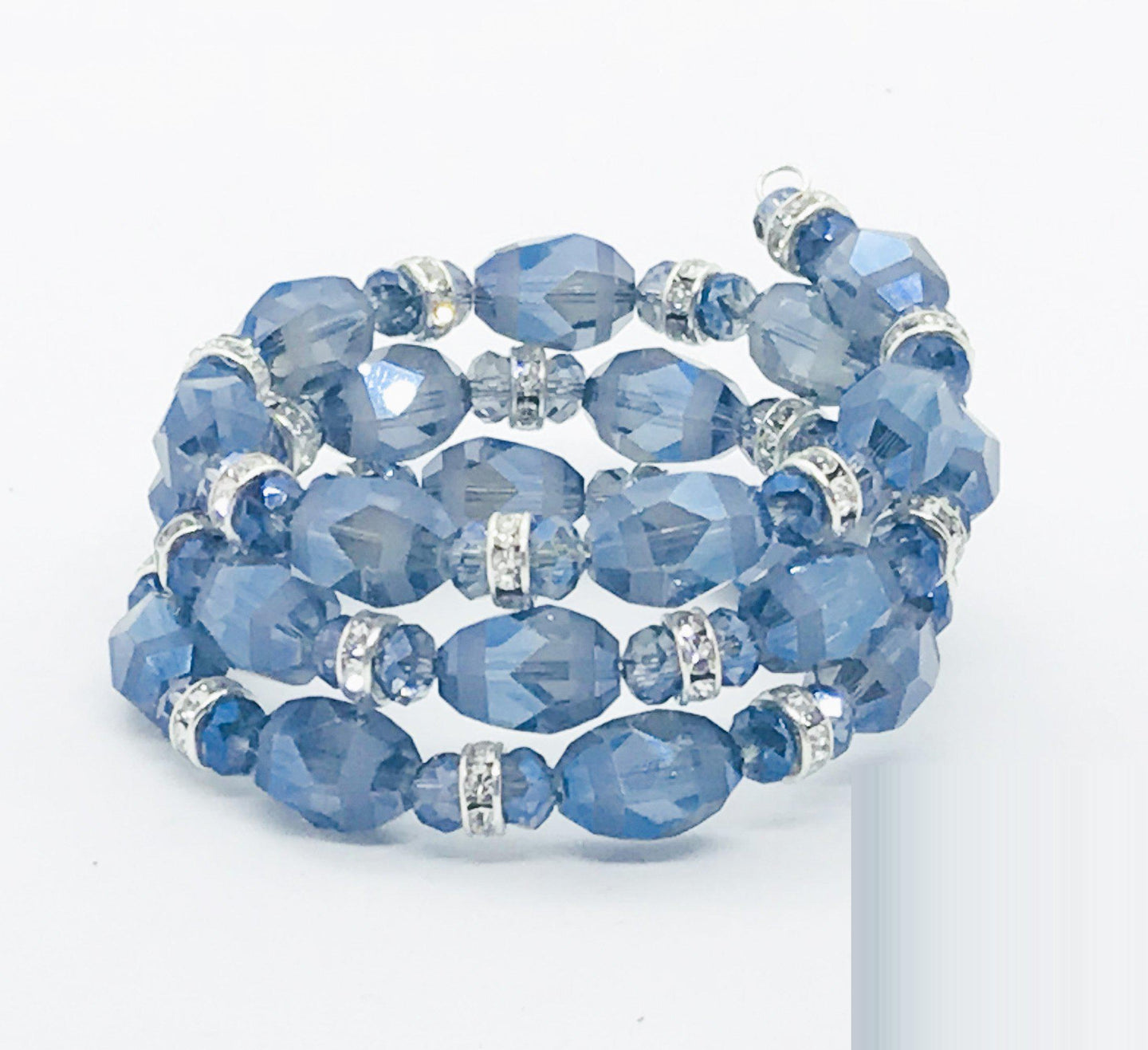 Glass Bead Wrap Bracelet - MB306