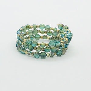 Kid's Glass Bead Wrap Bracelet - MB340
