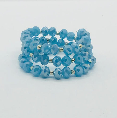 Glass Bead Wrap Bracelet - MB342