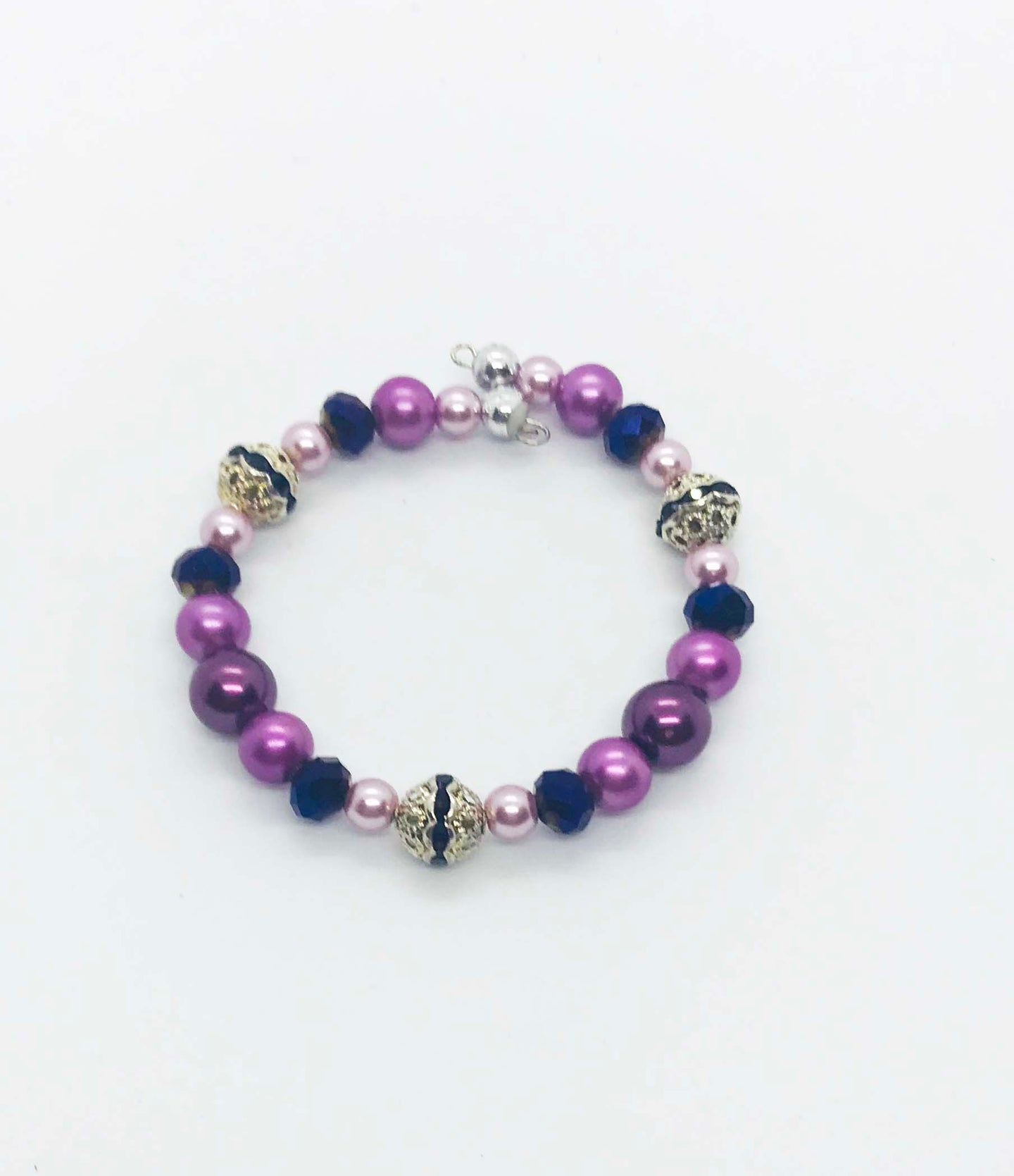 Kid's Glass Bead Cuff Bracelet - MB350