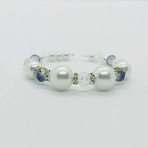 Glass Bead Cuff Bracelet - MB370
