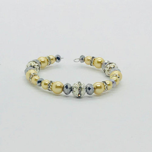 Glass Bead Cuff Bracelet - MB385