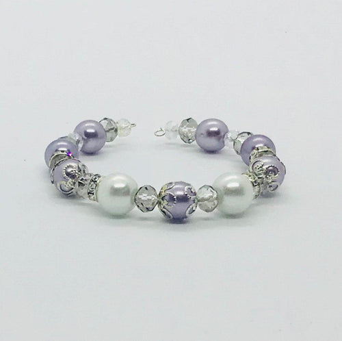 Glass Bead Cuff Bracelet - MB397