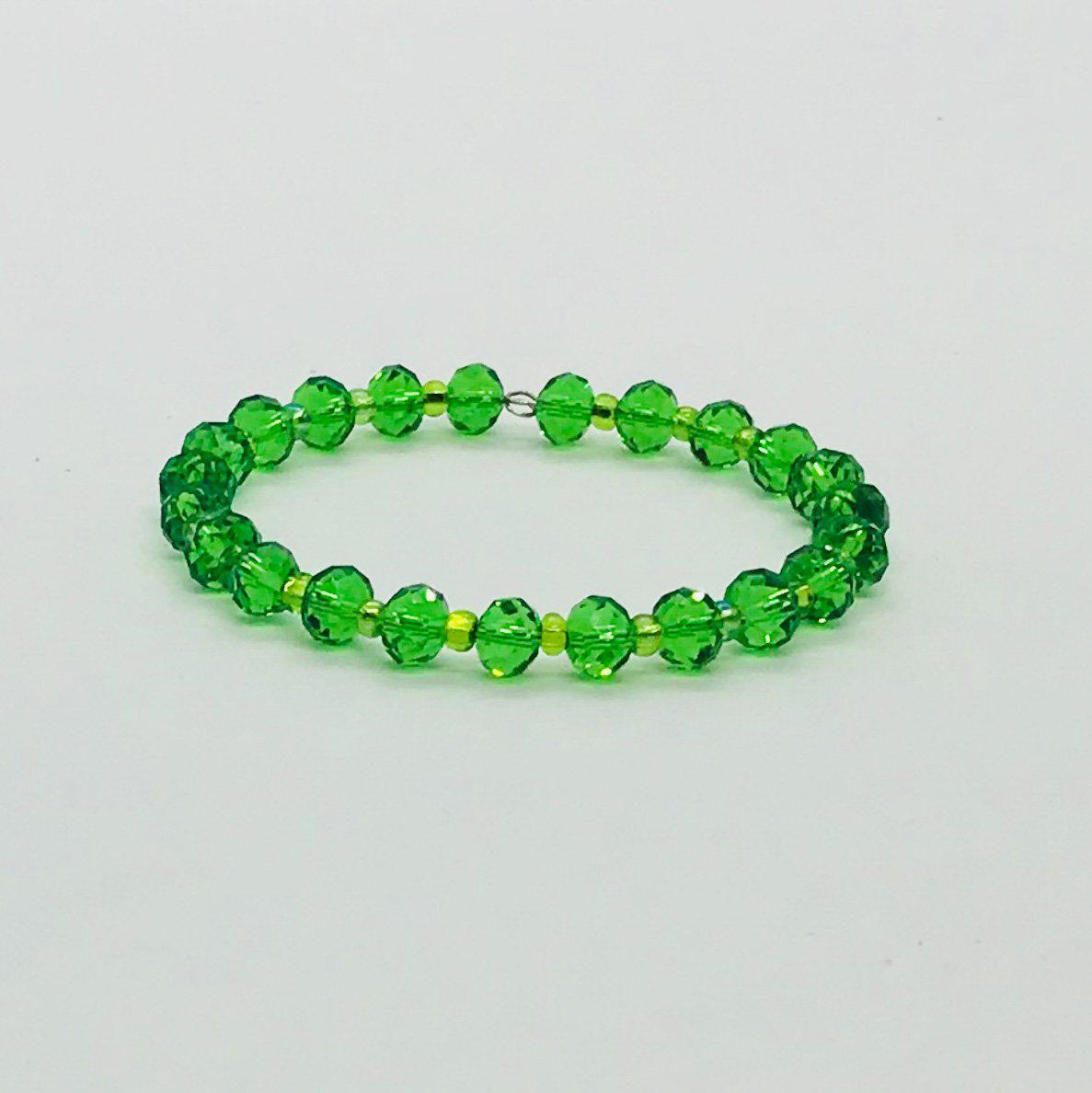Glass Bead Cuff Bracelet - MB405