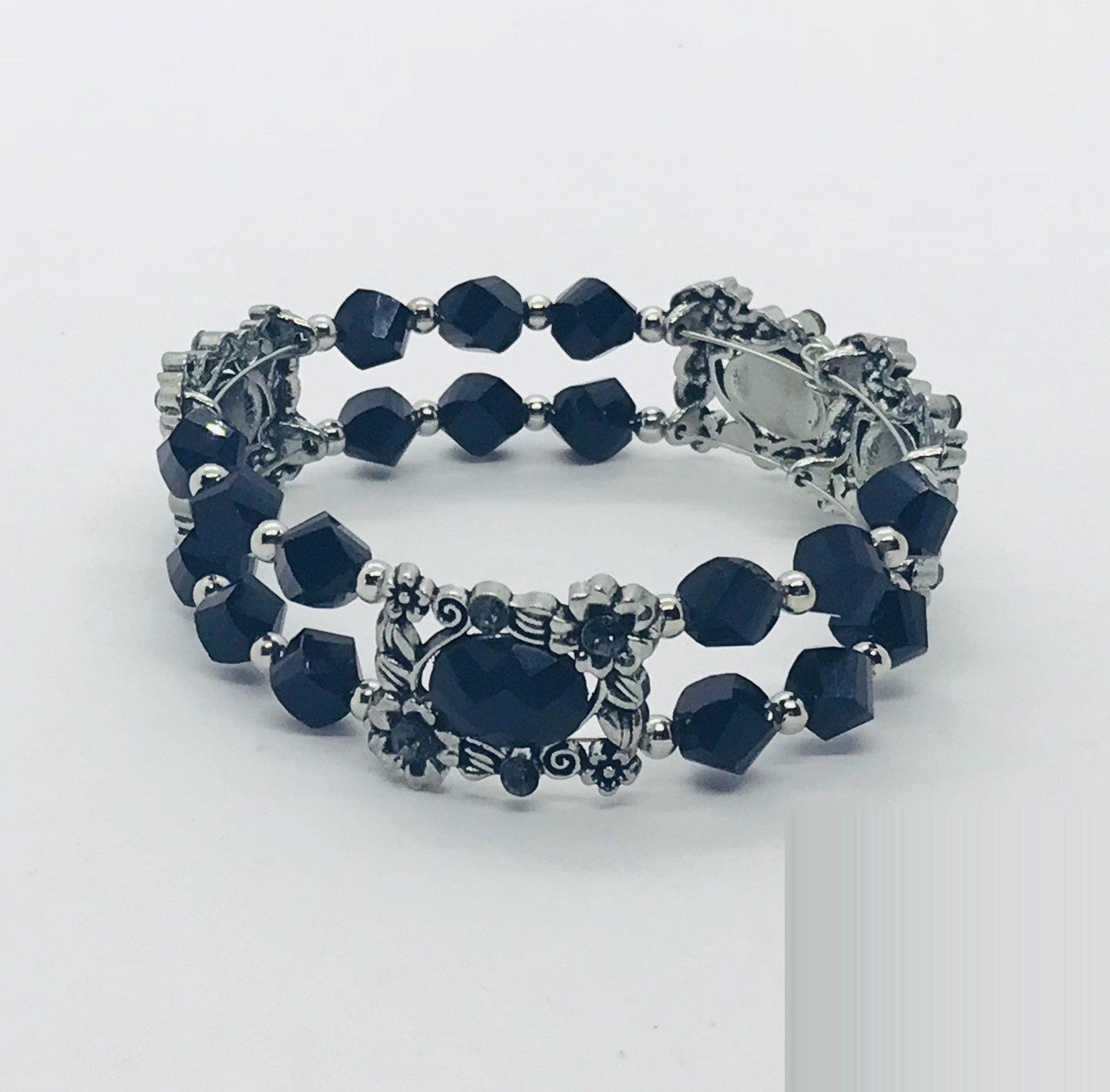 Glass Bead Cuff Bracelet - MB411