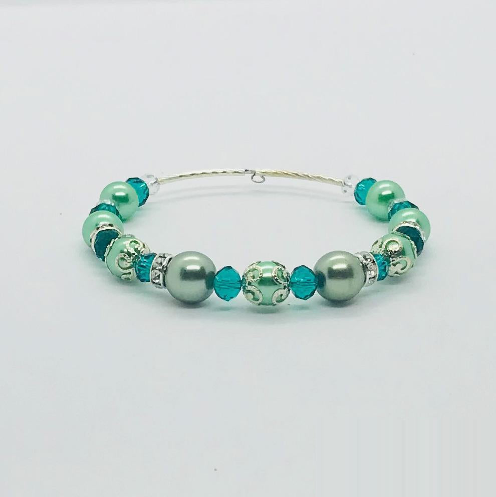 Glass Bead Cuff Bracelet - MB418
