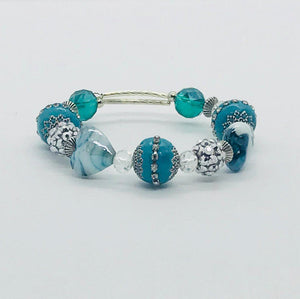 Glass Bead Cuff Bracelet - MB423