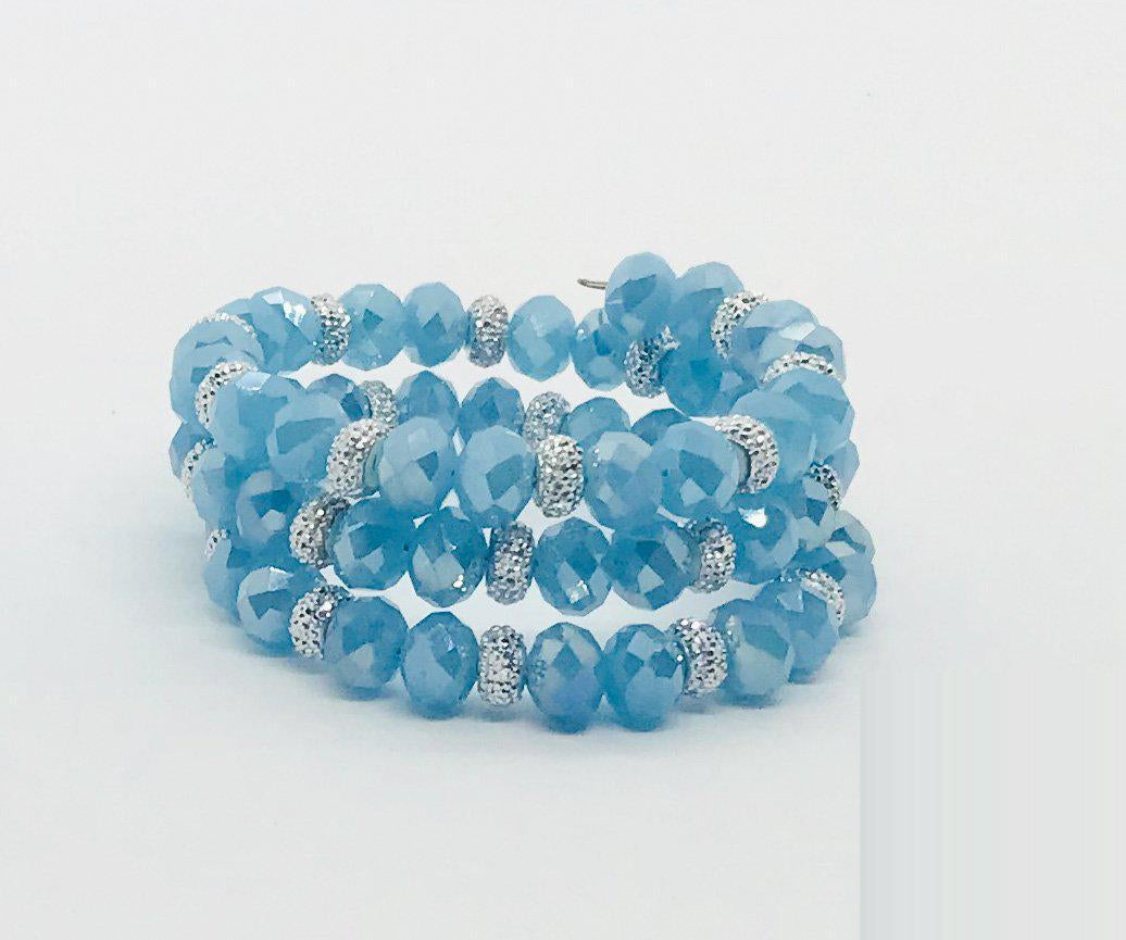 Glass Bead Wrap Bracelet - MB434