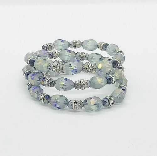 Glass Bead Wrap Bracelet - MB437