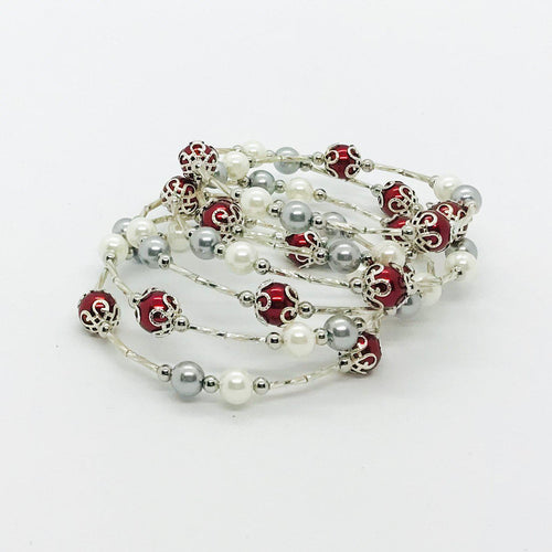 Glass Bead Wrap Bracelet - MB443