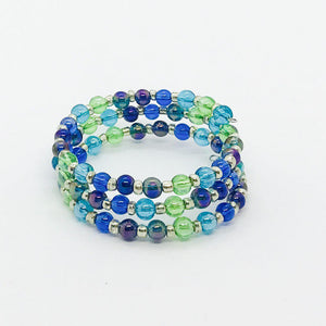 Kid's Glass Bead Wrap Bracelet - MB445