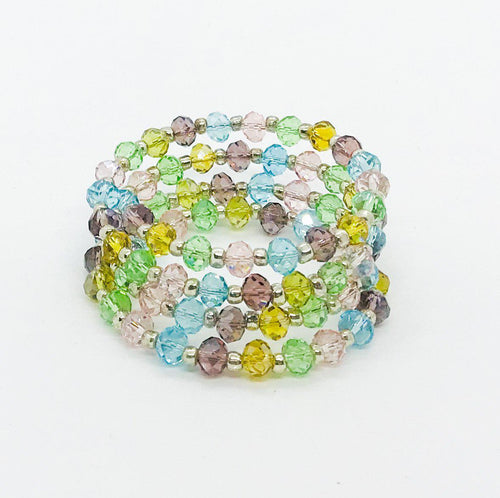 Glass Bead Wrap Bracelet - MB447