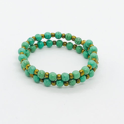 Glass Bead Wrap Bracelet - MB448