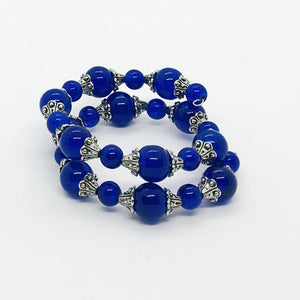 Glass Bead Wrap Bracelet - MB449