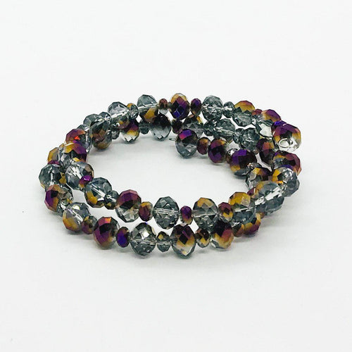Glass Bead Wrap Bracelet - MB450