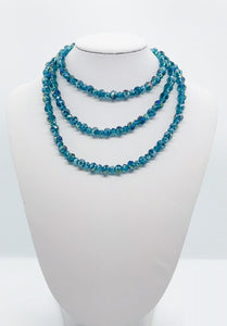 Dark Teal Glass Bead Necklace - N134