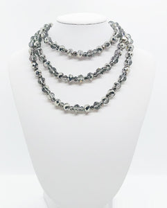 Silver Glass Bead Necklace - N147
