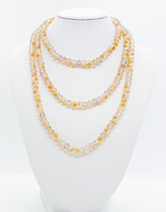 Tan Glass Bead Necklace - N152