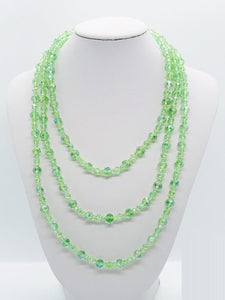 Green Glass Bead Necklace - N162